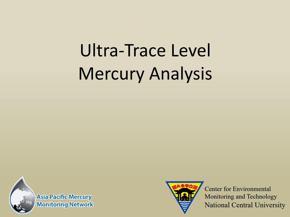 First slide of the Ultra-Trace Level Hg Analysis presentation
